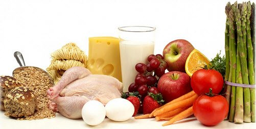 protein and vegetable food