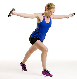Lunges With Chest Flies