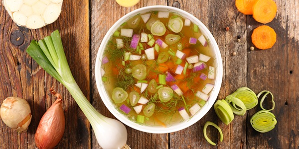 colourful vegetable soup