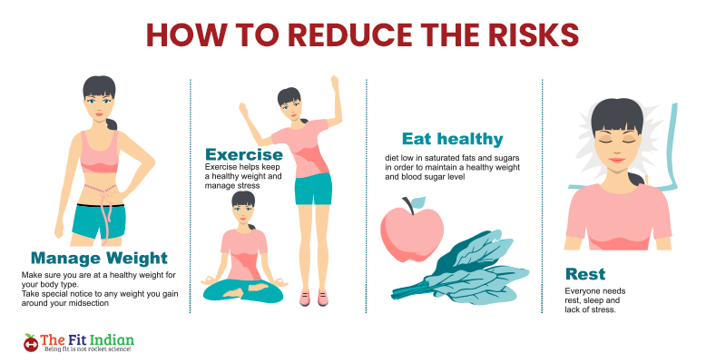 How to reduce the health risks due to being overweight or obese?